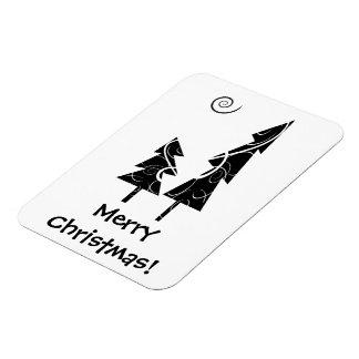 Christmas Trees Rectangular Photo Magnet