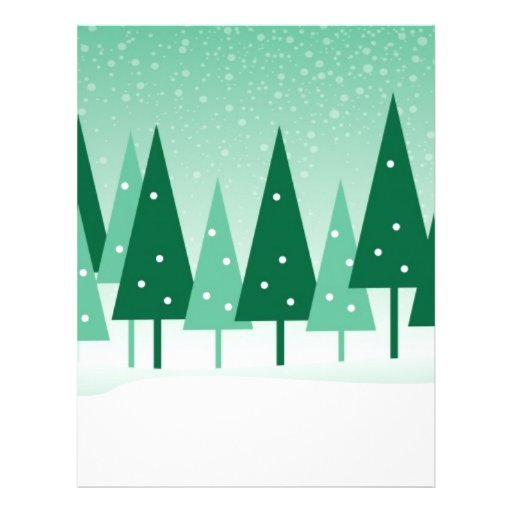 christmas trees flyer