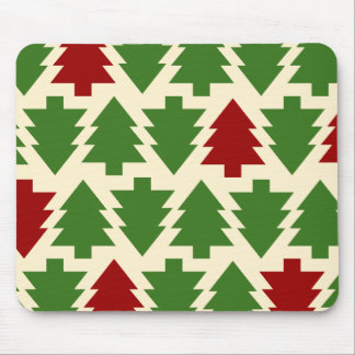 Christmas Trees Holiday Pattern Mouse Pad