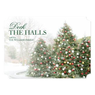 Christmas trees in the Botanical Garden, New York 13 Cm X 18 Cm Invitation Card