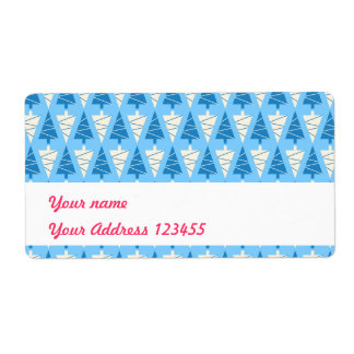 Christmas trees shipping label