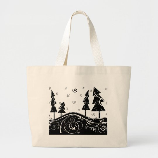 Christmas Trees Large Tote Bag