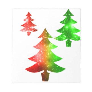 Christmas Trees Notepad