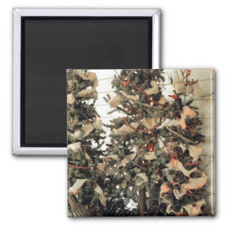 Christmas Trees of the Past Refrigerator Magnet