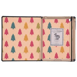 Christmas Trees on Pink iPad Case
