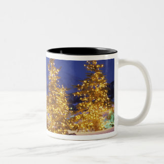 Christmas trees, Park City, Wastch Mountains, Two-Tone Coffee Mug