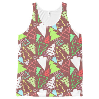 Christmas Trees Pattern All-Over Print Tank Top