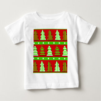 Christmas trees pattern baby T-Shirt