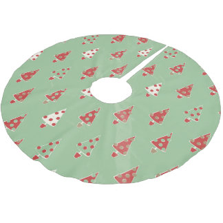 Christmas Trees Pattern Brushed Polyester Tree Skirt
