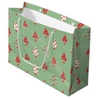 Christmas Trees Pattern Large Gift Bag