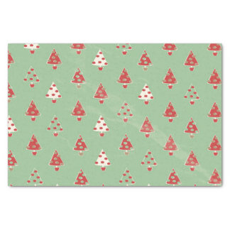 Christmas Trees Pattern Tissue Paper