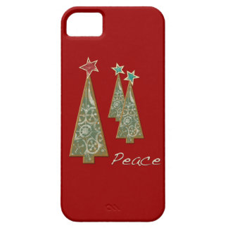 Christmas Trees-Peace/Red Barely There iPhone 5 Case