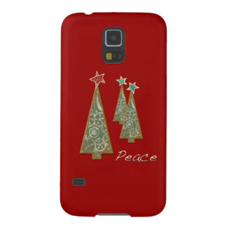 Christmas Trees-Peace/Red Galaxy S5 Cover