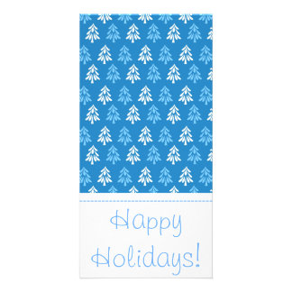 Christmas trees picture card