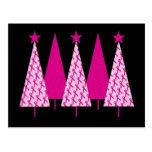 Christmas Trees - Pink Ribbon