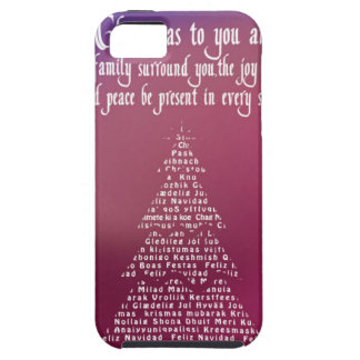 Christmas trees, purple tough iPhone 5 case
