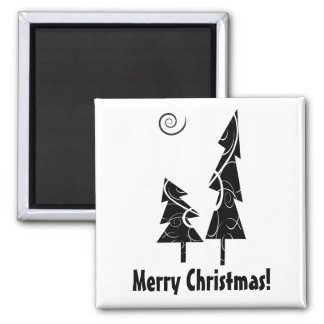 Christmas Trees Square Magnet
