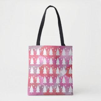 Christmas Trees & Stars | Watercolor Tote Bag