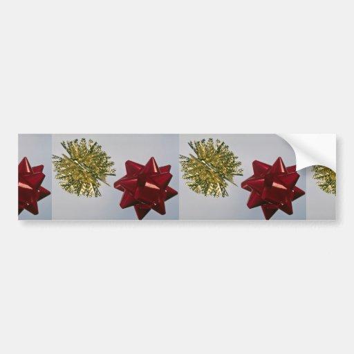 Christmas trim bumper stickers