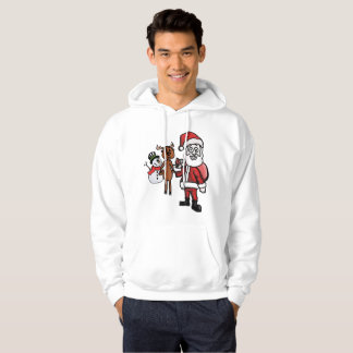 Christmas trio, Santa, Comet and Snowman Hoodie