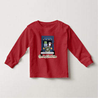 Christmas Truck Driving Santa boys toddler t-shirt