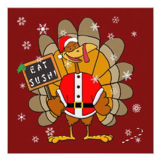 Christmas Turkey Custom Invitations