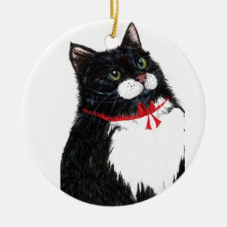Christmas Tux Ceramic Ornament