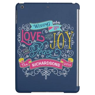 Christmas Typography Love Joy Peace Custom Banner Case For iPad Air