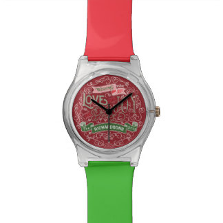 Christmas Typography Love Joy Peace Custom Banner Watch