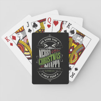 Christmas Typography/Merry Christmas/Happy Holiday Playing Cards