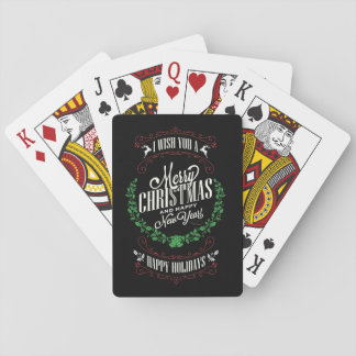 Christmas Typography/Playing Cards/Merry Christmas Playing Cards