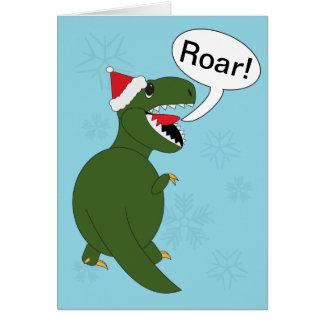 Christmas Tyrannosaurus Rex Card