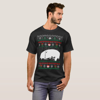 Christmas Ugly Sweater Go Karting Tshirt