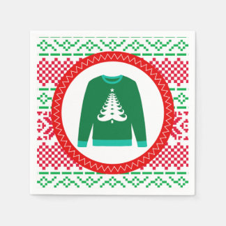 Christmas ugly sweater party paper napkins