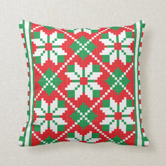 Christmas ugly sweater pattern Holiday pillow