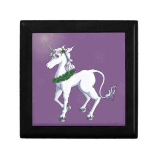 Christmas Unicorn Small Square Gift Box