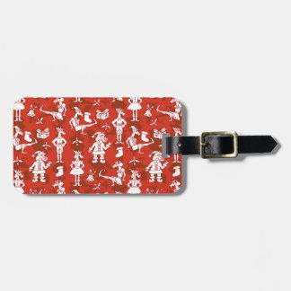 Christmas Unicorns Luggage Tag