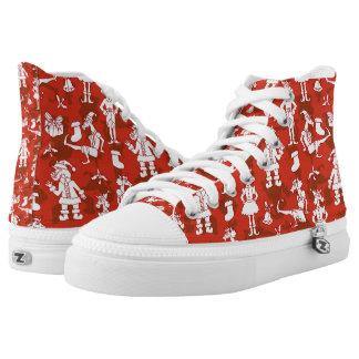Christmas Unicorns Printed Shoes