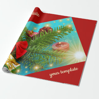 christmas unique, glossy Wrapping Paper, colorful, Wrapping Paper