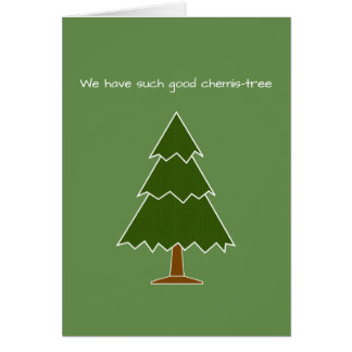 Christmas/Valentine Geek Chemis-tree Pun Card