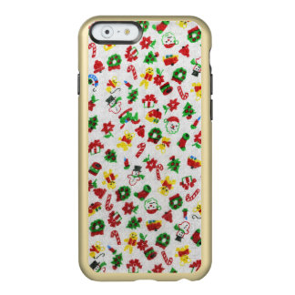 Christmas Variety of Doodles Faux-Fabric Incipio Feather® Shine iPhone 6 Case