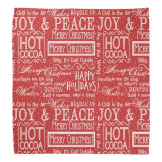 Christmas Verse Red and White Bandana