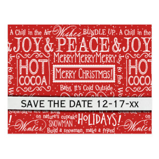 Christmas Verses Save the Date Postcard