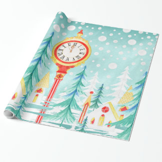 Christmas view wrapping paper