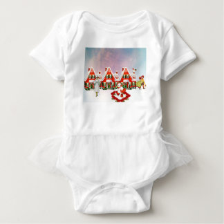 CHRISTMAS VILLAGE BABY BODYSUIT