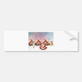 CHRISTMAS VILLAGE BUMPER STICKER