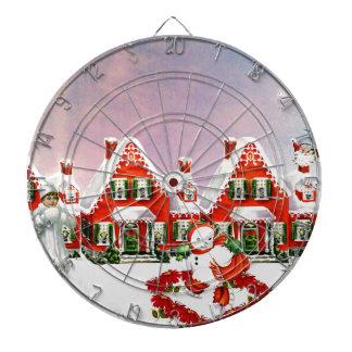 CHRISTMAS VILLAGE DARTBOARD