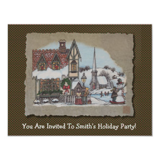Christmas Village 4.25x5.5 Paper Invitation Card