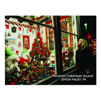 Christmas Village Lehigh Valley, PA Postcard