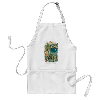 Christmas Village with Angels Aprons